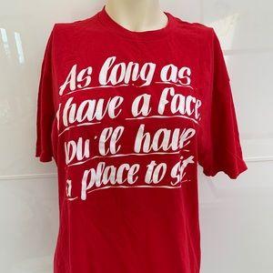 Baron von fancy slogan T-shirt cotton red  large